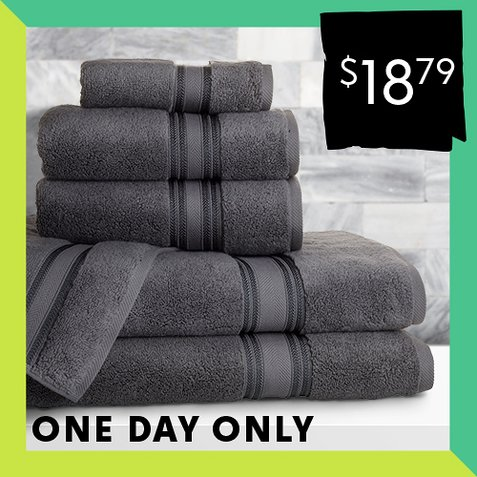 Up to 80% off 6-PC Bath Towel Sets : Only $18.79