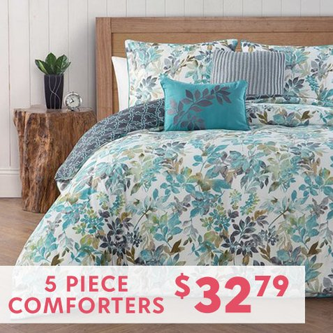 Up to  82% off 5-PC Comforter Sets : Only $32.79