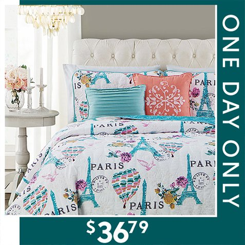 Up to 75% off 5-PC Quilt Sets : $36.79 any size