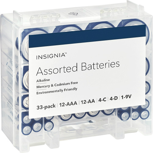 47% off 33-PK of Insignia Batteries : $6.99