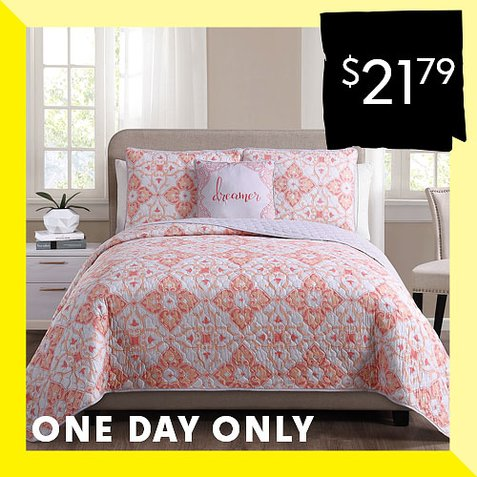 Up to 85% off Quilt Sets : Only $21.79