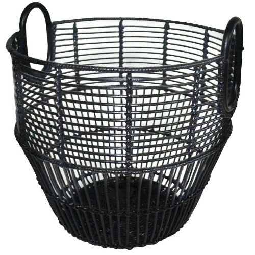 50% off 18″ Black Rattan Basket : $17.48