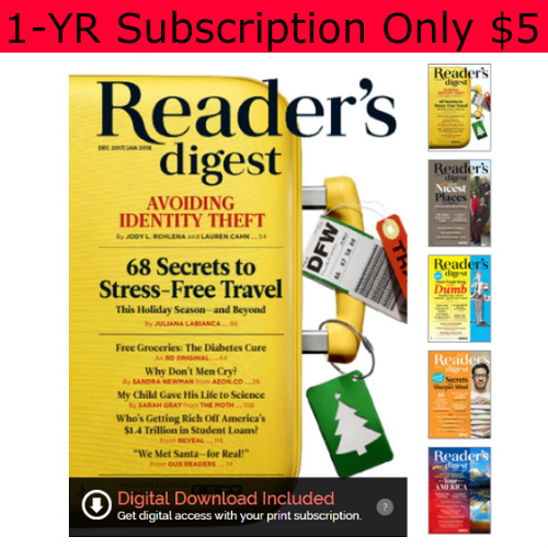 67% off Reader's Digest Subscription : Only $4.95