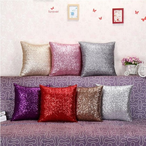 54% off Sequined Throw Pillow Case : $5.99 + Free S/H