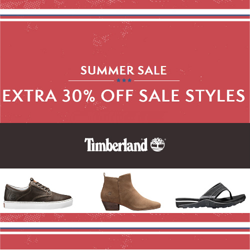 Timberland : Extra 30% off Sale + 10% off + Free S/H