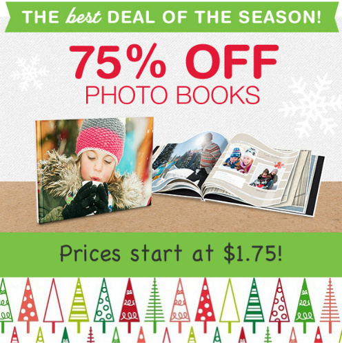 75% off Walgreens Photo Books : Prices start at $1.75