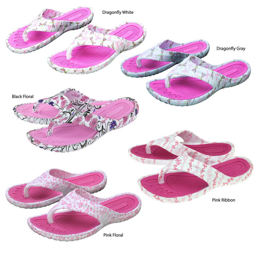 72% off 2 Pairs of Pink Ribbon Flip Flops : Only $10.49