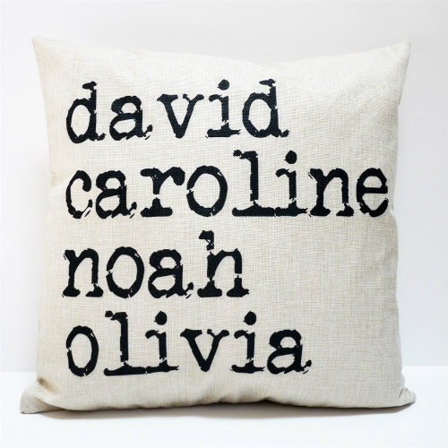 73% off Farmhouse Inspired Custom Name Pillow Covers : $13.99