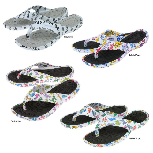 72% off 2 Pairs of Paws Around Town Flip Flops : Only $10.49
