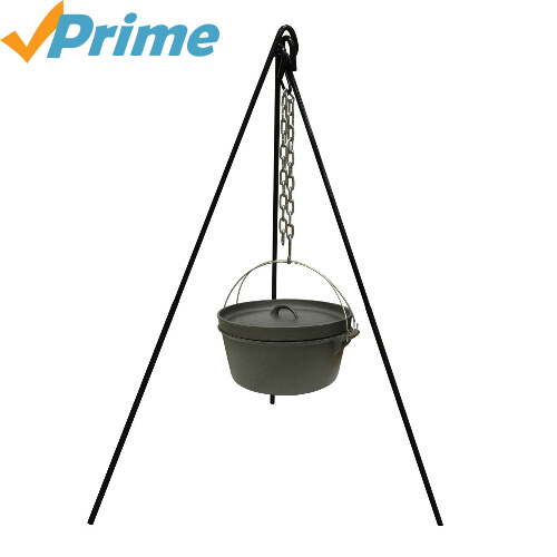 65% off Cast Iron Cooking Tripod : $9.57