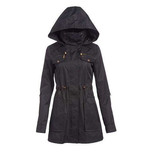79% off Women's Drawstring-Waist Twill Coats : Only $19.79