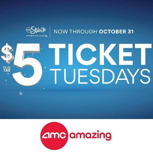 AMC Theatres : $5 Movie Tickets for Stubs Members
