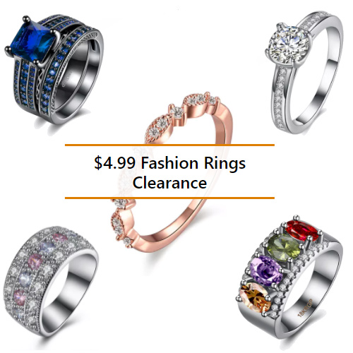 Clearance Fashion Rings : $4.99 + Free S/H