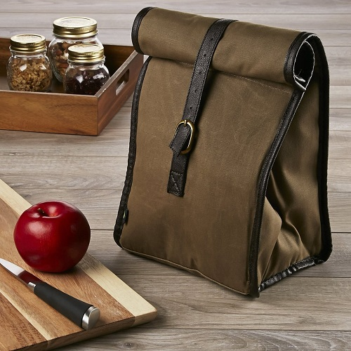 50% off Classic Roll Top Insulated Lunch Bag with Ice Pack : $10 + Free S/H