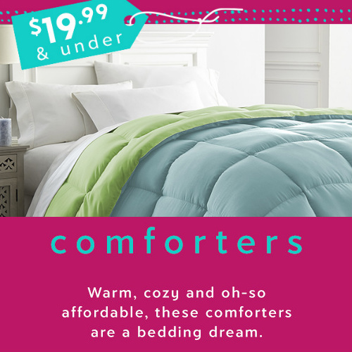 Up to 90% off Down Alternative Comforters : $17.99-$19.99