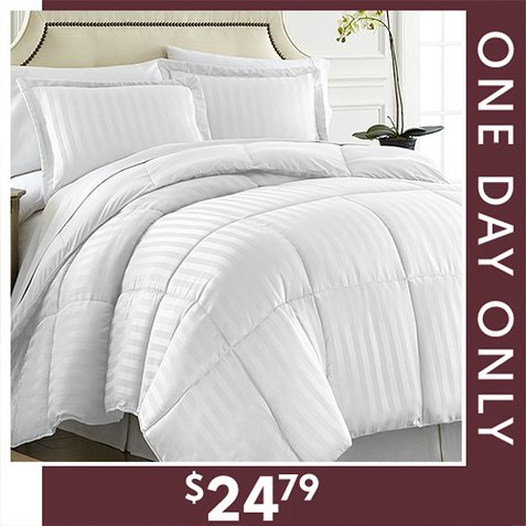 Up to 85% off 3-PC Reversible Comforter Sets : $24.79 Any Size