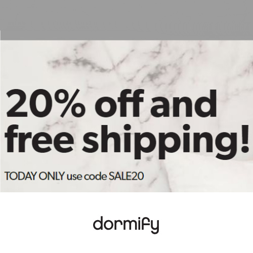 Dormify Coupon : Extra 20% off + Free S/H