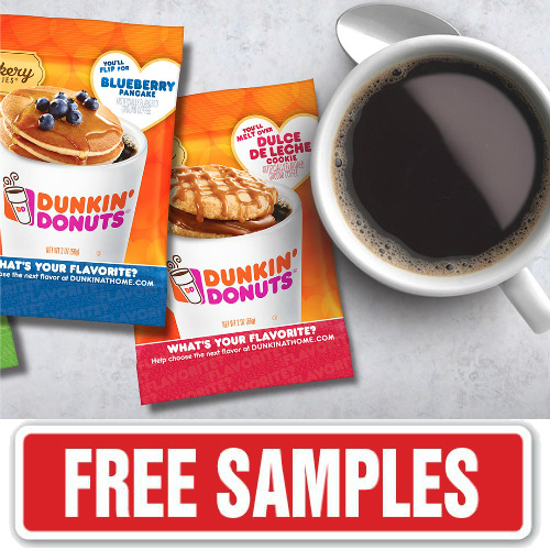 Dunkin' Donuts : Free Coffee Sample Pack