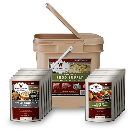 46% off Wise Company 56-Serving Breakfast and Entree Grab & Go Bucket : $64.99