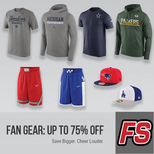 Final-Score : Up to 75% off Fan Gear + $5 Flat S/H