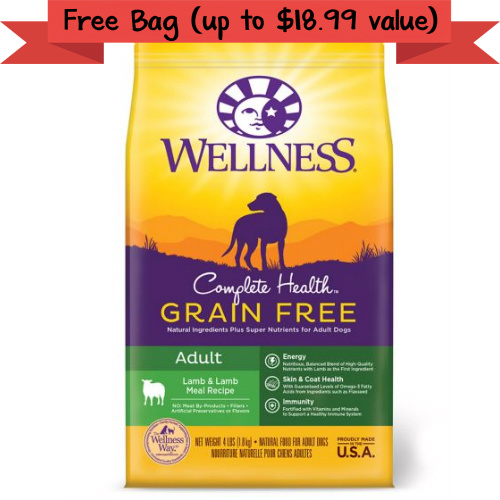 Petsmart : Free Bag of Wellness Dog or Cat Food