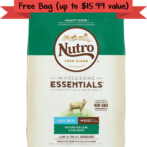 Petsmart : Free Bag of Nutro Dog or Cat Food