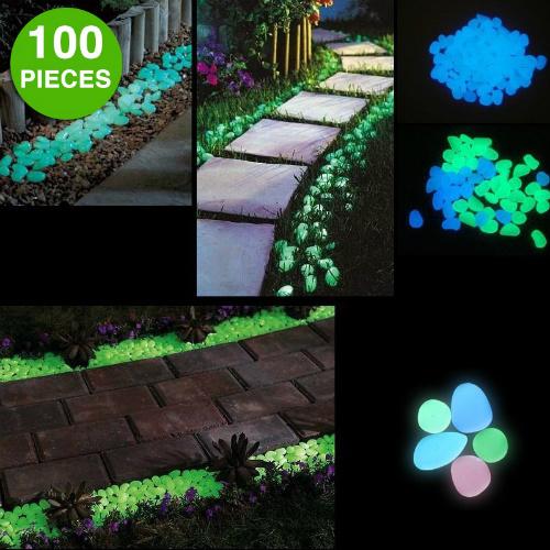 67% off 100-PK of Glow in the Dark Garden Pebbles : $9.99 + Free S/H