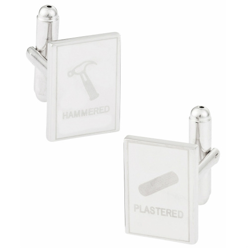 """79% off """"Hammered"""" and """"Plastered"""" Cuff Links : $10.49"""