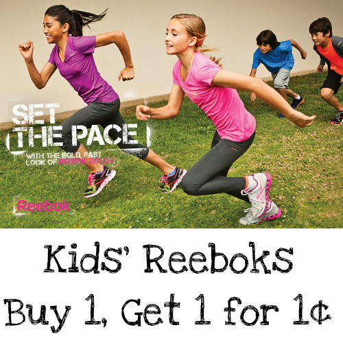 Reebok : Buy 1, Get 1 for 1¢ on Kids' Shoes