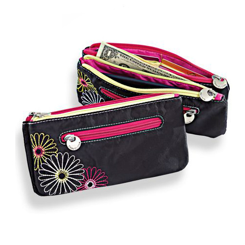 70% off Travelon Safe ID Daisy Clutch Wallet : $8.97 + Free S/H