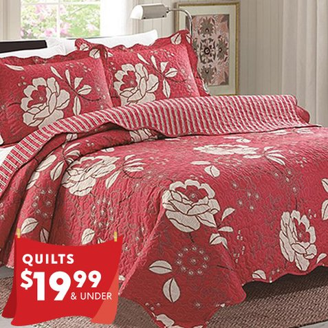 Up to 88% off Quilt Sets : Only $18.99 & $19.99
