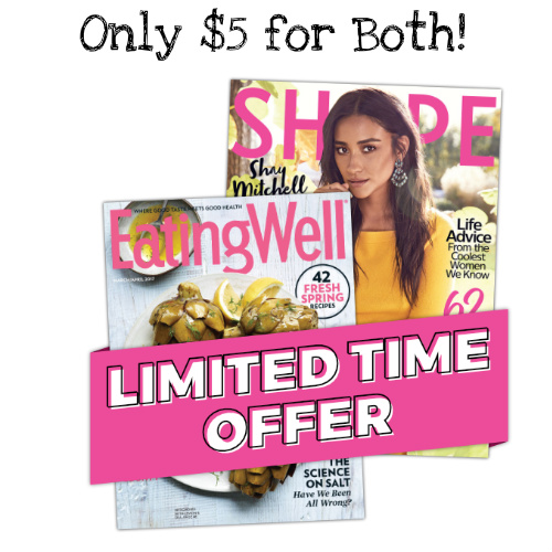 75% off Eating Well & Shape Magazine Subscription Bundle : Only $5