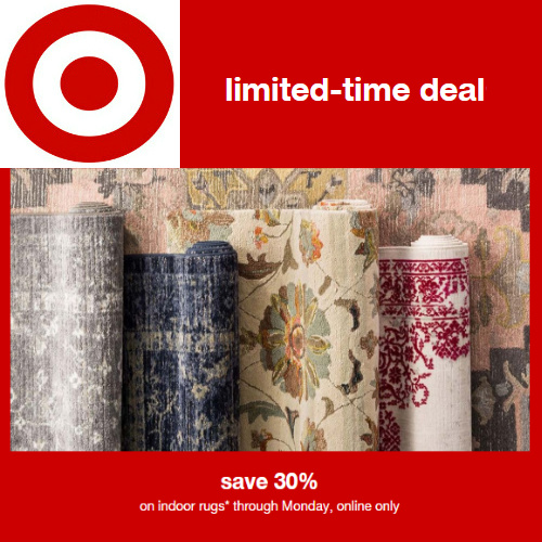 Target : Extra 30% off Indoor Rugs + Free S/H on $35 or more