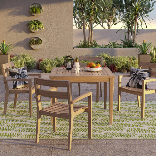 50% off 5-PC Wood Patio Dining Set : $349.98 + Free S/H + Free $40 Target Gift Card