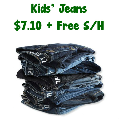 64% off Children's Jeans : Only $7.10 + Free S/H