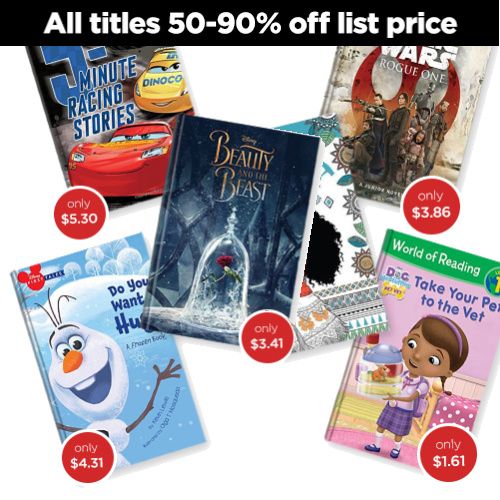Disney Books : Up to 90% off + $5 Flat S/H