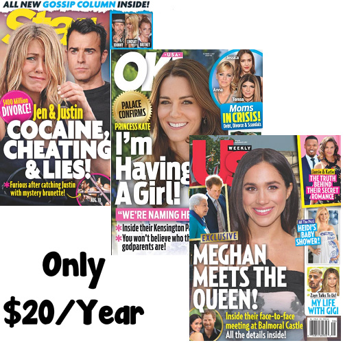 Up to 61% off US Weekly, Star and OK! Magazine Subscriptions : Only $19.99