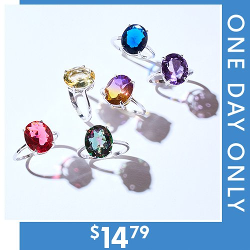 86% off Gemstone Rings : Only $14.79