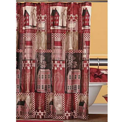 70% off Home Sweet Home Shower Curtain Set : $5.97 + Free S/H