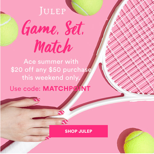 Julep Coupon : $20 off $50 or more + Free S/H