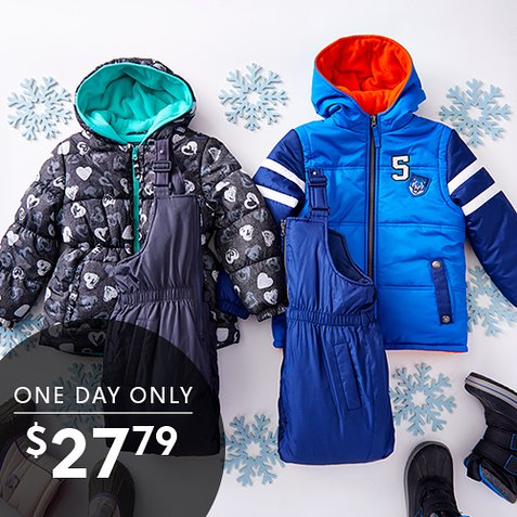 39% off Kids' Coat and Snow Bib Sets : Only $27.79