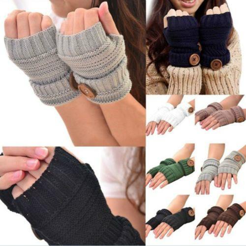 65% off Knitted Fingerless Gloves : $5.99 + Free S/H