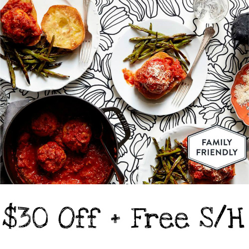 Martha & Marley Spoon Coupon : $30 off + Free S/H