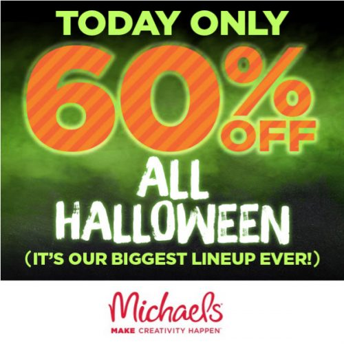 Michael's : 60% off All Halloween Decor + Extra 10% off