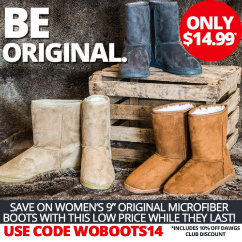 81% off Women's 9″ Microfiber Boots : Only $14.99