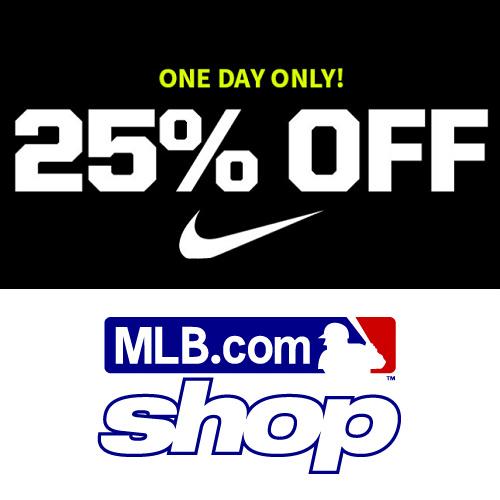 MLBShop : 25% off + Free S/H on Nike