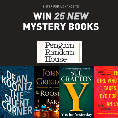 Penguin random house sweepstakes win 25 mystery books for Win a home contest