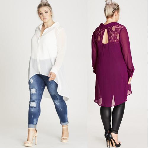 64% off Women's Flutter Lace Shirt : $21 + Free S/H