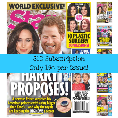 87% off Star Magazine Subscription : Only $9.96