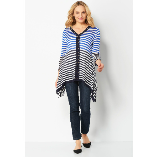 92% off Striped Lace Up Front Pullover : $4.49 + Free S/H
